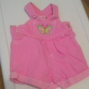Carter's pink overalls with butterfly